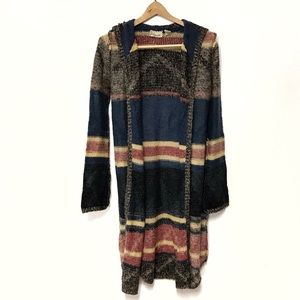 Gimmicks by BKE Long Raw Edge Striped Sweater S